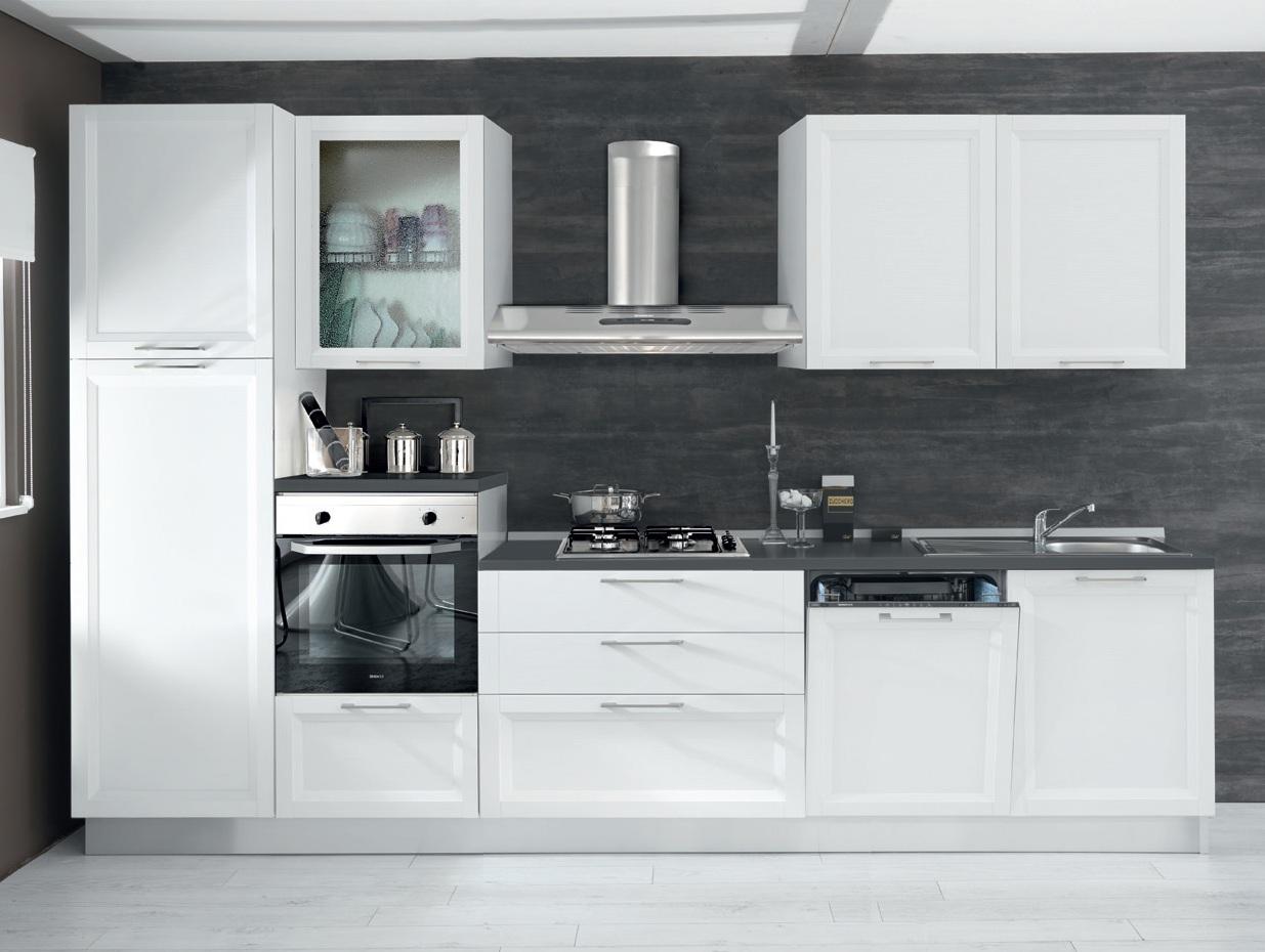 Cucina trix 330 b y526s completa di elettrodomestici - Elettrodomestici in cucina ...