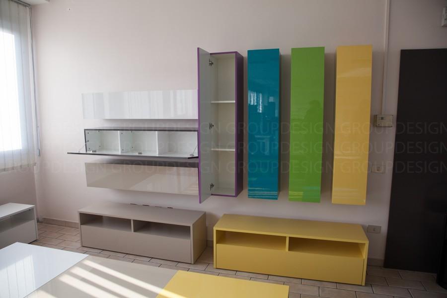 Pensile elemento colonna moderna young color sala soggiorno salotto