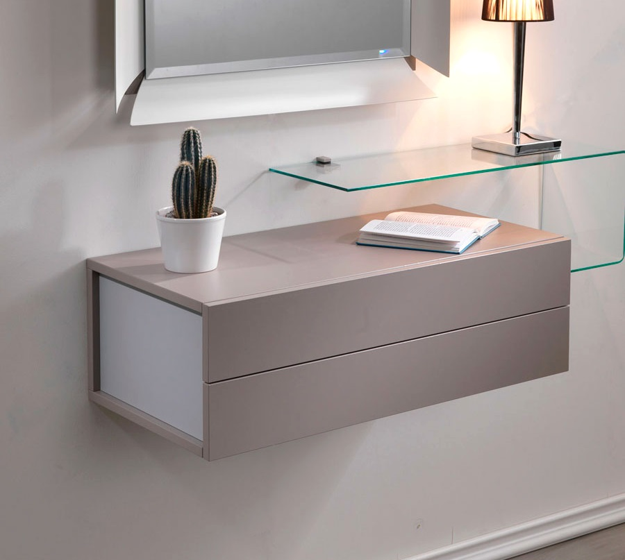 Mobile ingresso due mensola specchio cassettiera for Mensole per ingresso
