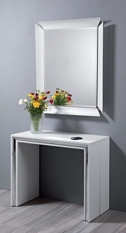 Tavoli in vetro allungabili offerte e risparmia su ondausu for Consolle allungabile laccata bianca