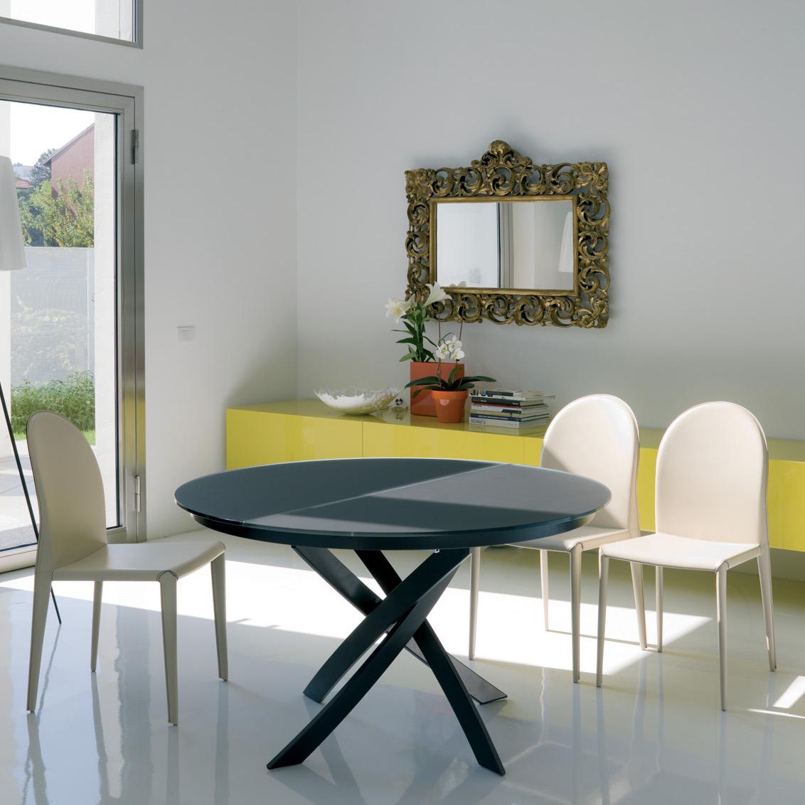 Tavolo barone rotondo allungabile sala soggiorno cucina ebay - Tavolo rotondo da cucina ...