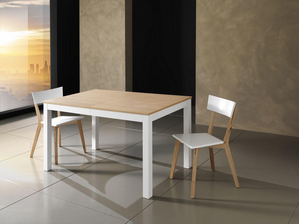 Tavolo bull wood allungabile sala soggiorno cucina top in for Ikea sedie bianche